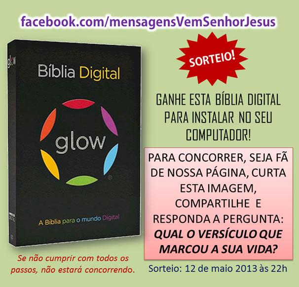 Sorteio Biblia Glow